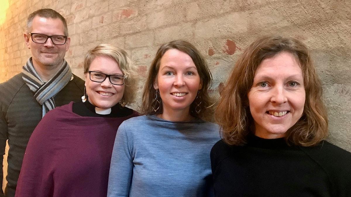 Anders Juhlin, Maria Bergius, Clara Nystrand och Maria Hjorth