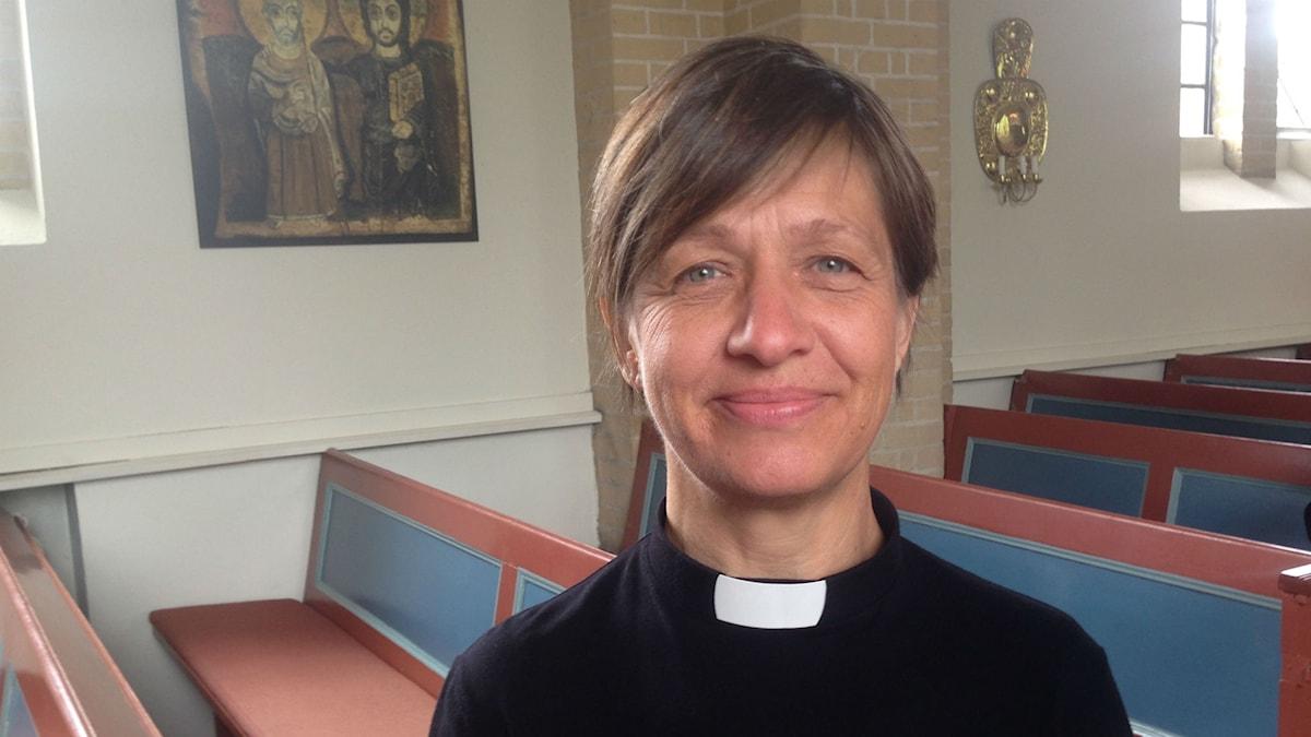 Karin Ekblom, präst i Västra Skrävlinge kyrka.