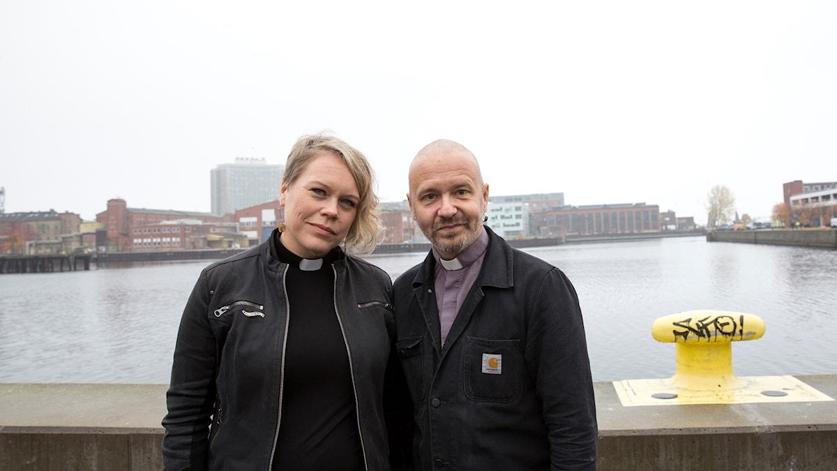 Prästerna Kent Wisti och Maria Bergius.