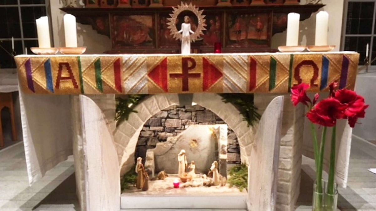 Julkrubba Viby kyrka