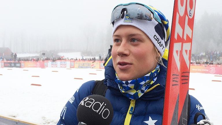 Maria Nordström Ulricehamns IF på Världscupen i Ulricehamn