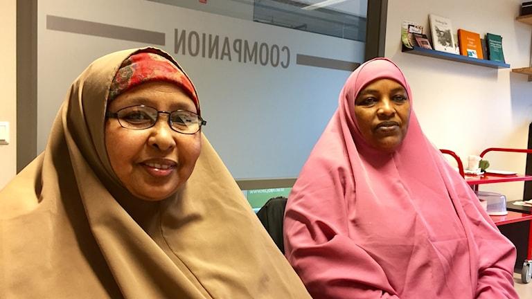 Sahra Mudey och Bishara Jeele Ahmed driver städföretaget Shabelle.