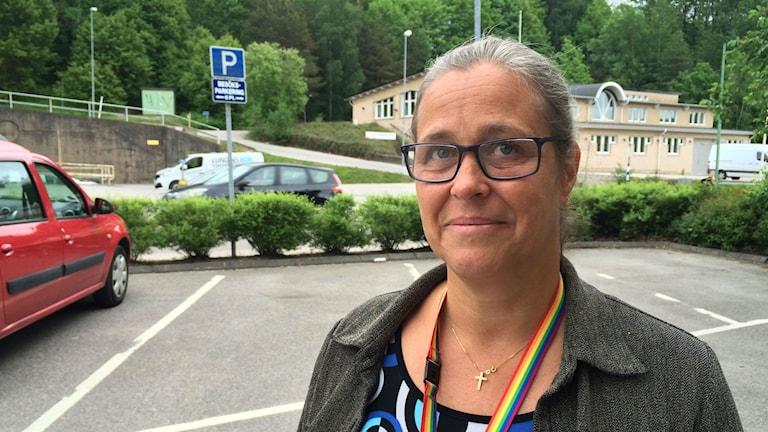 Ingela Zetterlind, en av arrangörerna till Pride i Bollebygd.