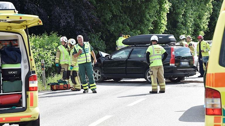 Flera fick föras till sjukhus efter olyckan vid Sundholmen, därav fem barn.