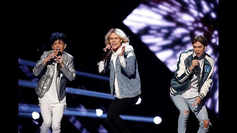 FO&O på scen i Melodifestivalen