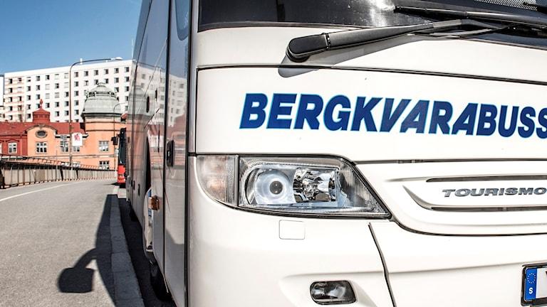 En buss från bussbolaget Bergkvarabuss.