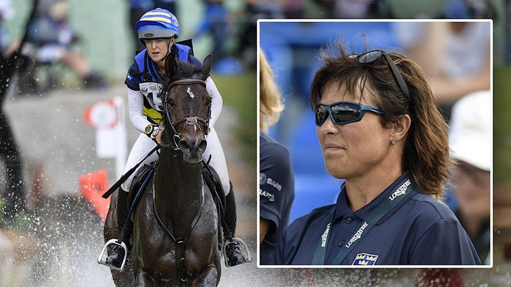 Hästen Box Qutie fick avlivas under Ryttar-VM. Assisterande förbundskapten Viktoria Carlerbäck.