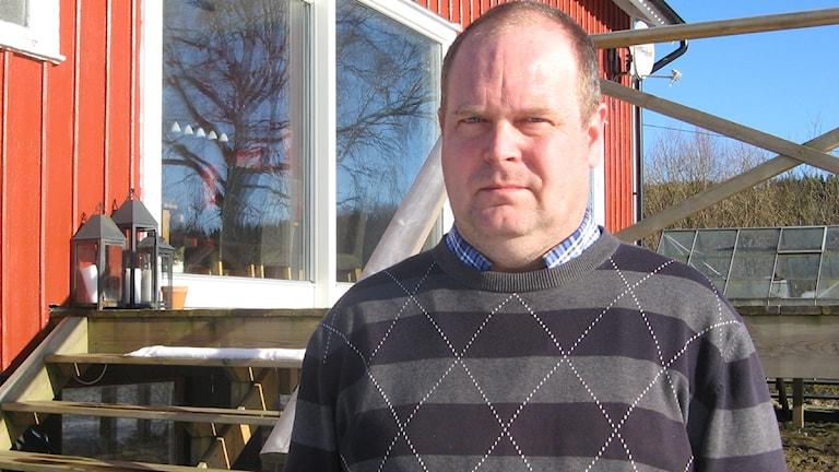 Pontus Johansson, centerpartist och ordförande i plan- och byggnadsnämnden i Mark.