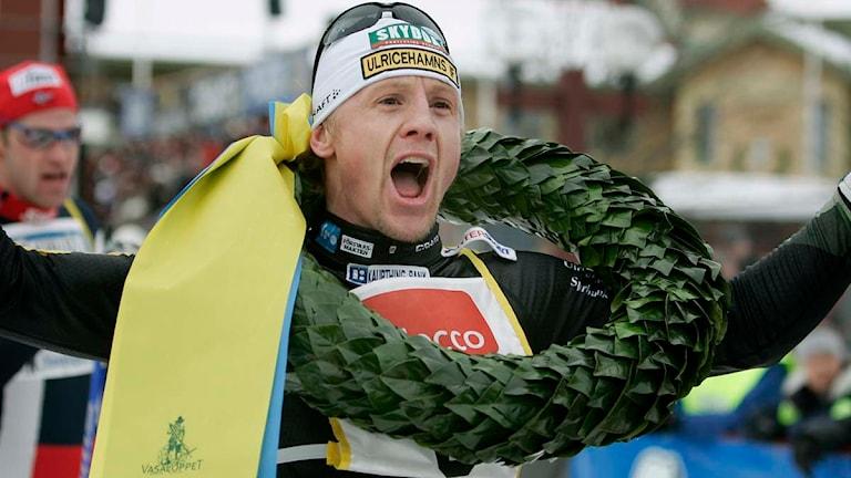 2007 vann Oskar Svärd vasaloppet för tredje gången. Foto: Ulf Palm