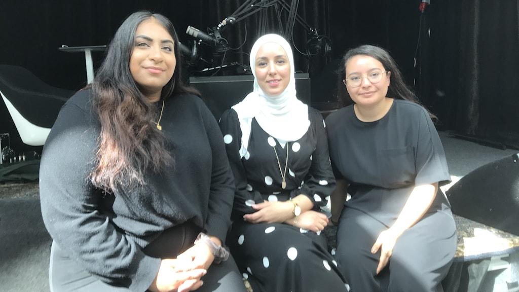 Bibi Dawood, Zaynab Ouahabi från ABF och Mona Nechma från Streetgäris.