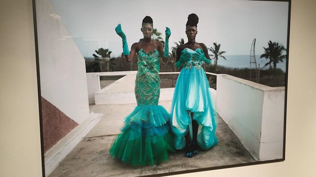 Utställningen African catwalk visas på Abecita i Borås.