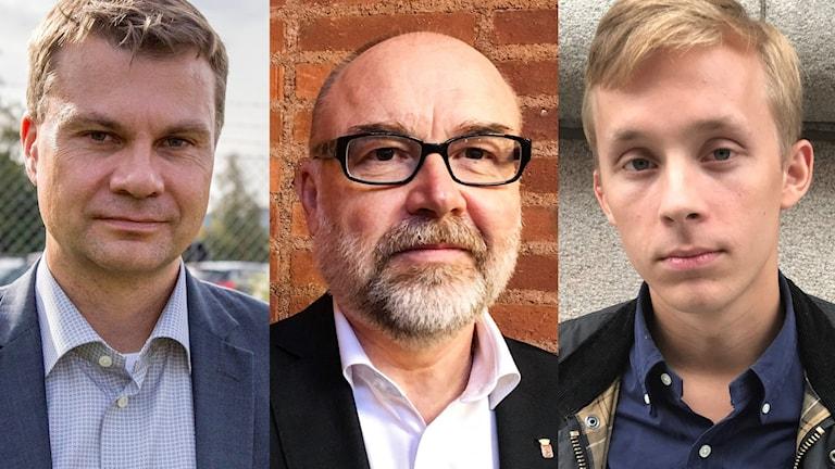 Ulf Olsson (S), Svante Stomberg, kommunchef i Borås och Niklas Arvidsson (KD)