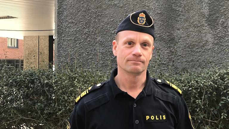Tobias Bergkvist, tillförordnad polisområdeschef i Borås.