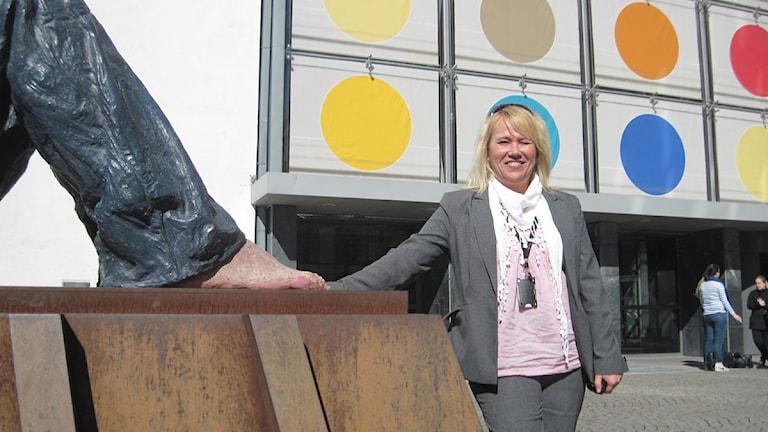 Malin Sundström, forskare vid Högskolan i Borås. Foto: Camilla Walldán / SR