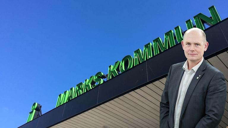 Marks kommun med kommunalrådet Tomas Johansson infälld