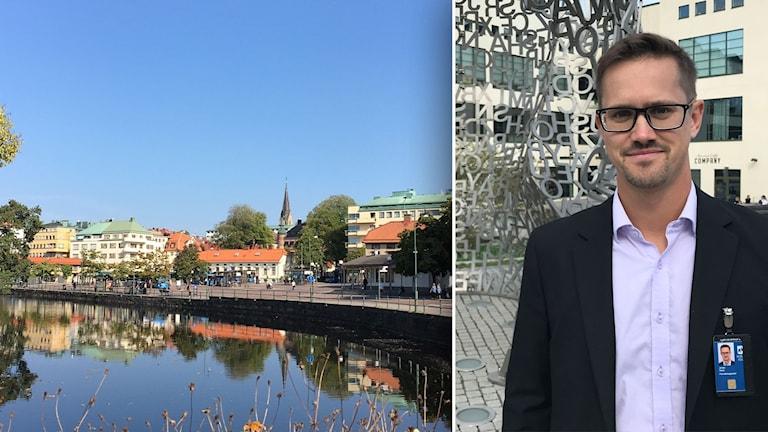 Borås centrum och Jonas Ward