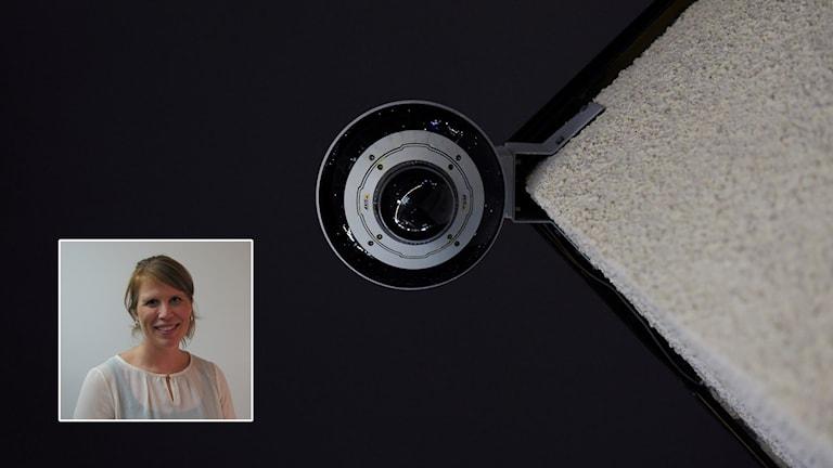 Övervakningskamera, Camilla Wagnervik inklippt