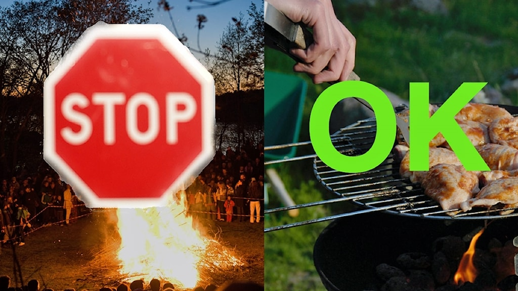 Ok att grilla, men inte att elda. Nu råder eldningsförbud i stora delar av Sjuhärad..