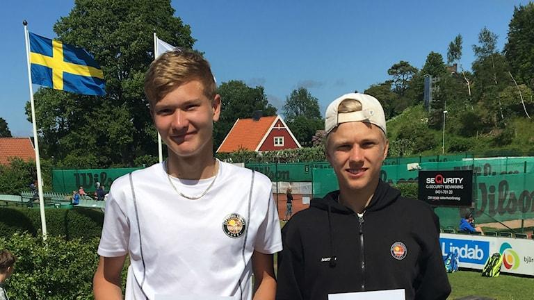 Erik Eliasson och Filip Ivarsson spelar tennis för Elfsborg.