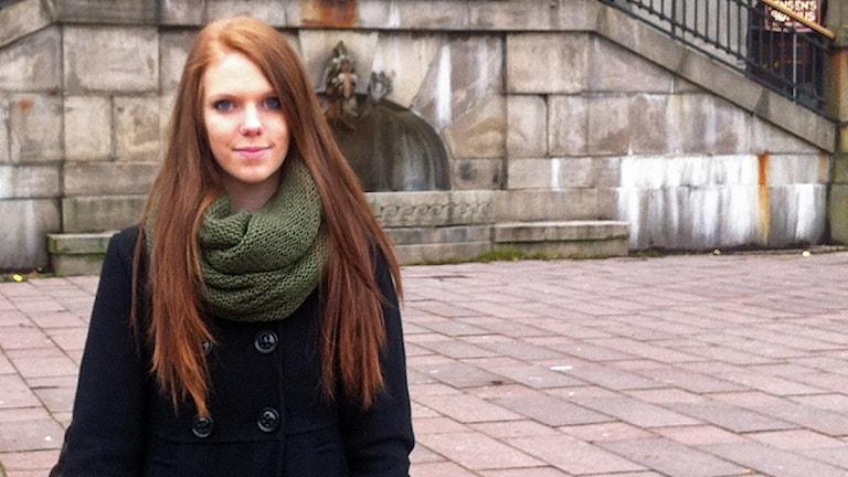 Hanna Bernholdsson, ordförande för Borås Stads Ungdomsråd. Foto: Alexandra Karlsson.