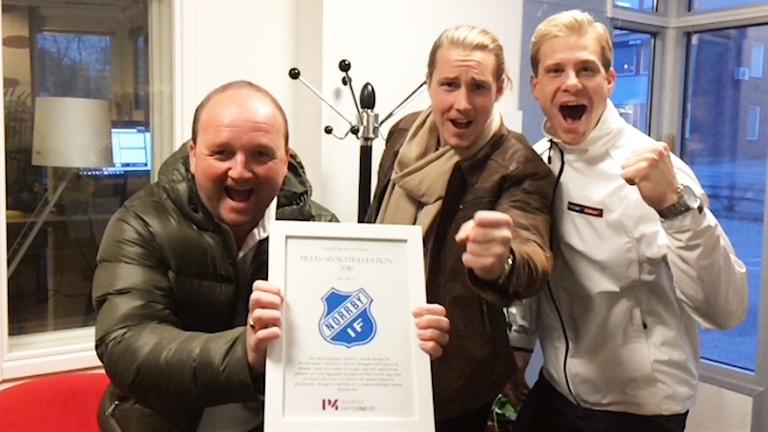 Norrby IF tar emot priset för Årets idrottsprestation