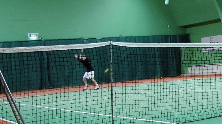 Lucas Forslund tränar för fullt i Elfsborgs tennis. Foto: Maria Hansson