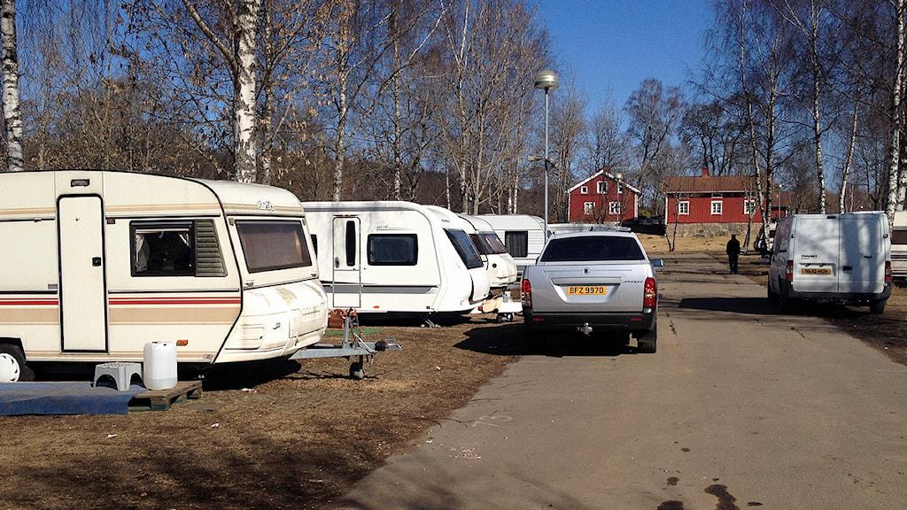 En campingplats.