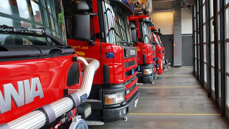 Räddningstjänsten i Borås. Foto: Niclas Odengård.