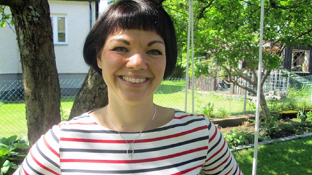 Ida Legnemark, vänsterpartiets gruppledare i Borås, ifrågasätter det fria skolvalet. Foto: Elin Ternander, P4 Sjuhärad