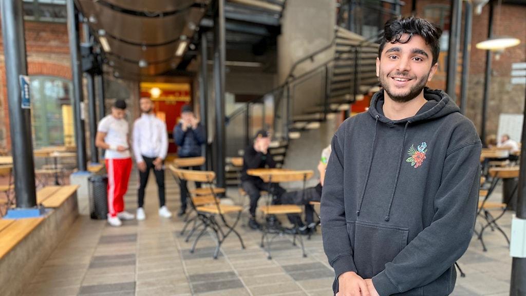 Aran Mafi, elev på Viskastrandsgymnasiet.