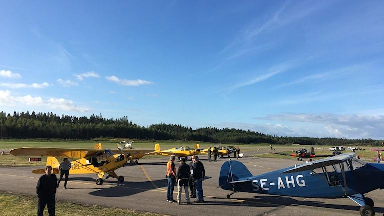 Flygplan på Borås flygplats.