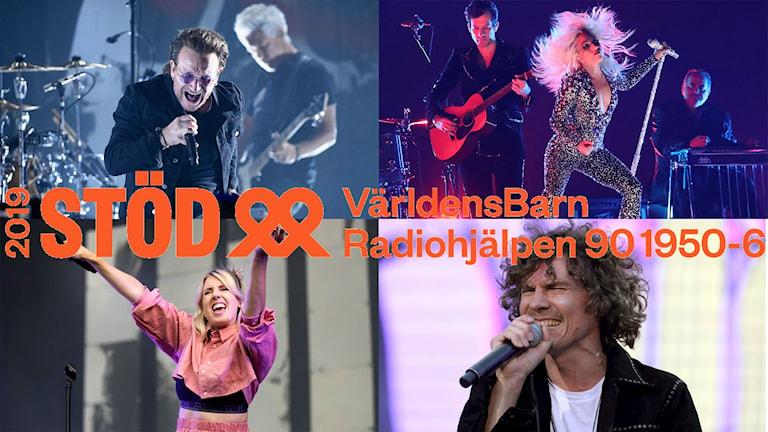 Bono, Lady Gaga, Veronica Maggio och Håkan Hellström.