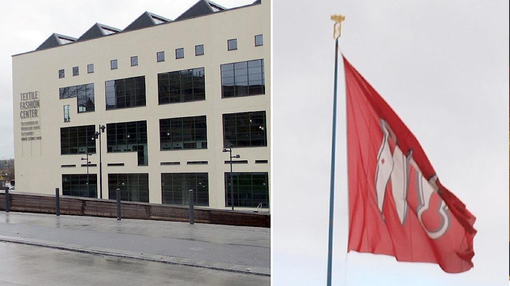 Simonsland, Textile Fashion och Borås stad. Montage: P4 Sjuhärad.