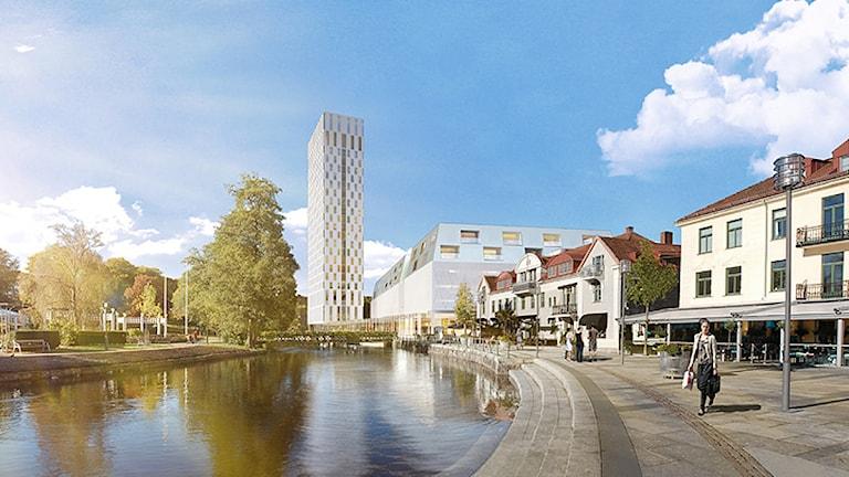 Pallashuset i Borås. Illustration: Rosenbergs arkitekter.