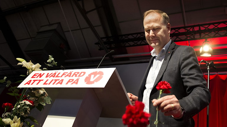 Vänsterpartiets Jonas Sjöstedt. Foto: Jessica Gow/TT.