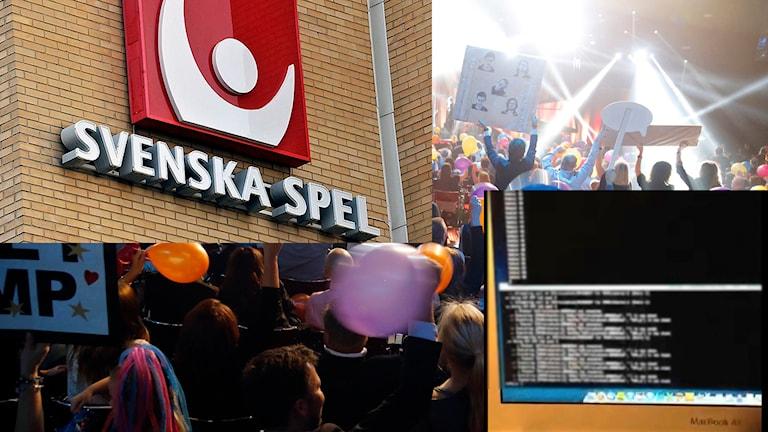 Statliga Svenska spel stoppar spel på Melodifestivalen efter avslöjandet om röstningsfusk. Montage: P4 Sjuhärad.