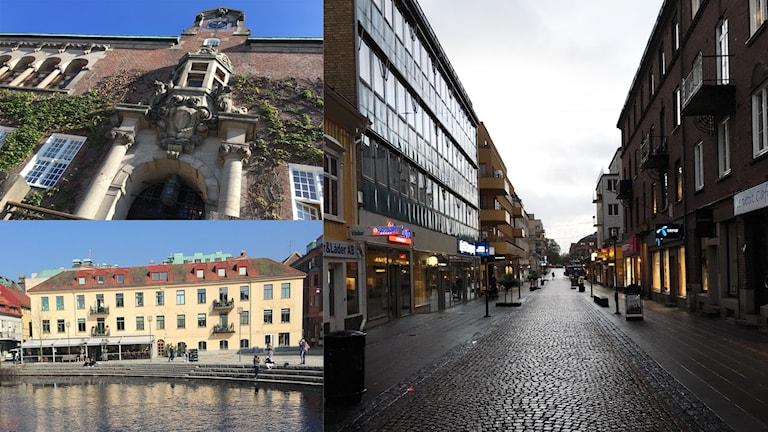Rådhuset, Sandwalls plats och Österlånggatan - inte fulast i Sverige.