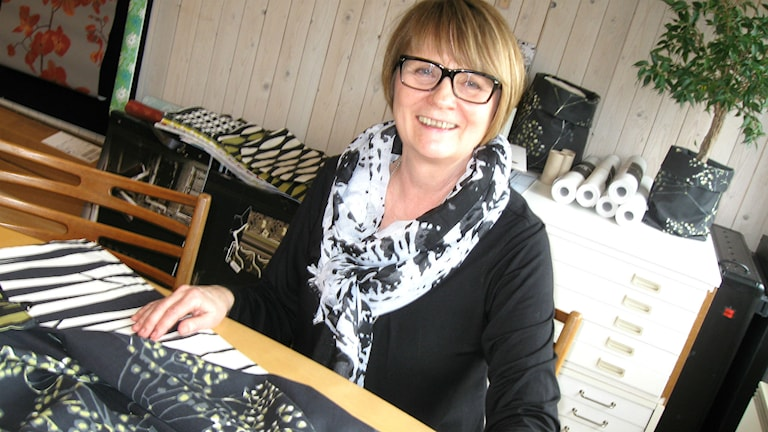 Teija Bruhn, textildesigner från Frufällan. Foto: Teija Martinsson