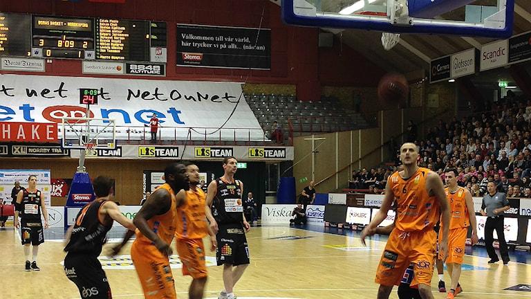 Borås Basket Mike Palm sätter straffkast. Foto Kristoffer Lidén