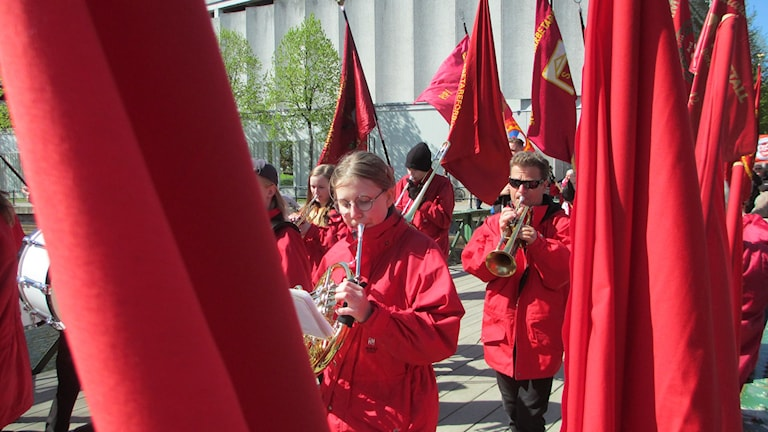 The labour movement traditionally demosntrates on the 1st of May