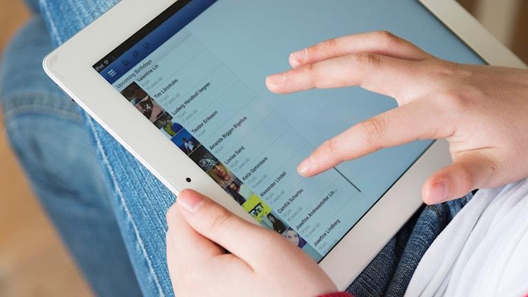 Trådlös internet på en surfplatta. Foto: Foto: Fredrik Sandberg/TT.