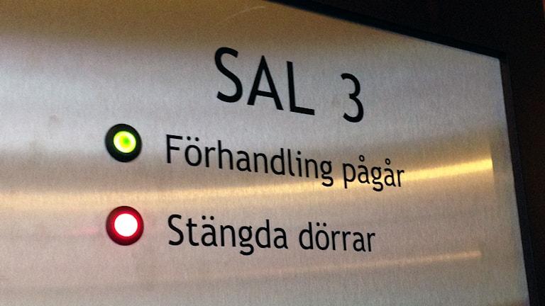 Rättegången i Borås tingsrätt hålls bakom stängda dörrar. Foto: Madeleine Korneliusson.