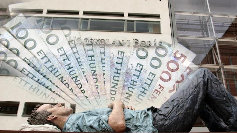 Högskolan i Borås får pengar. Foto: P4 Sjuhärad.