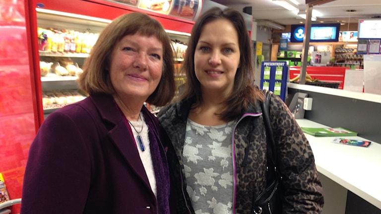 Annika Lilja och Linda Gustafsson Bodén från Framtid Fristad. Foto: Simon Campanello.