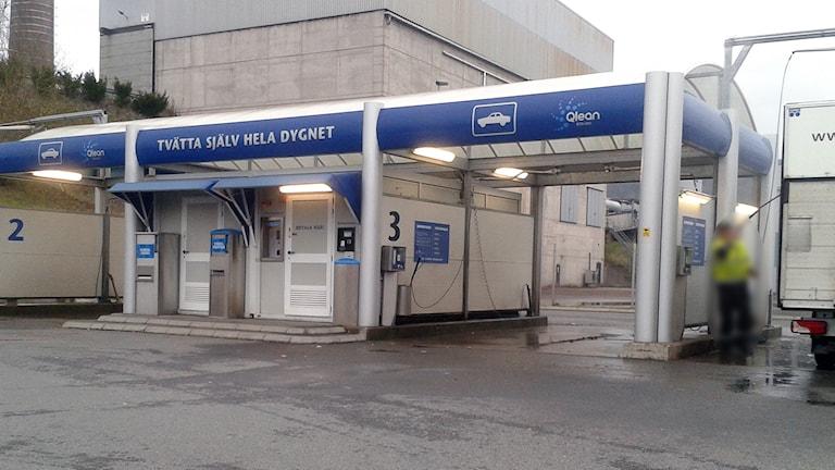 Här skedde den olyckliga biltvätten - Qlean vid Bäckeskog i Borås. Foto: Niclas Odengård.