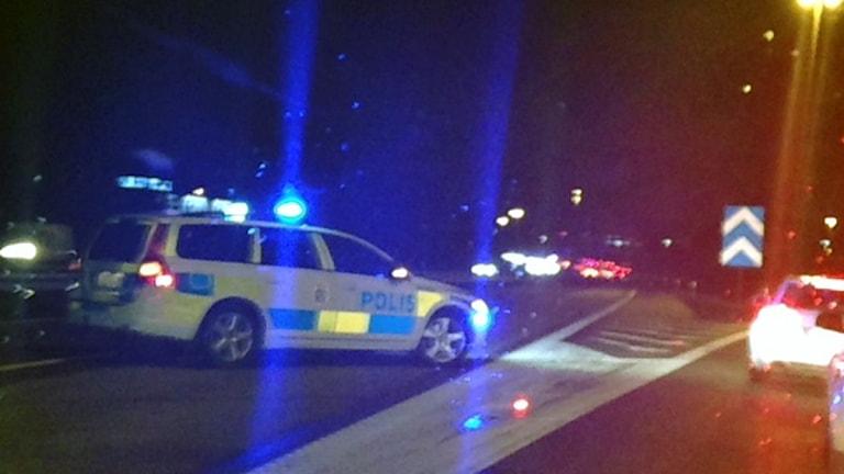 Köer efter olyckan vid Viaredsmotet. Foto: Teija Martinsson.