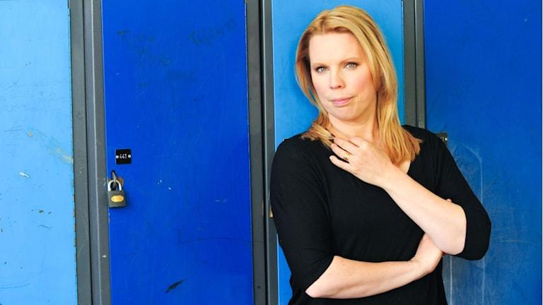 Författaren Caroline Engvall har skrivit flera böcker om unga som säljer sex. Foto: Johan Almblad