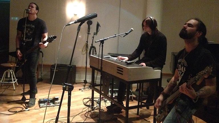 Egonaut spelade live i studio 3 i Radiohuset i Borås. Foto: Maja Jerosimic.