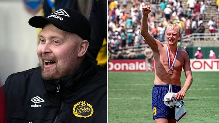 Klas Ingesson från 2014 och från 1994. Foto: TT