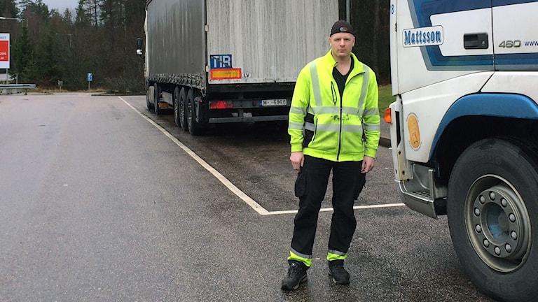 Marcus Gustafsson - lastbilschaufför från Göteborg. Foto: Peter Elvemo.